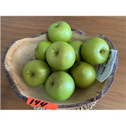 Bowl of Faux Green Apples
