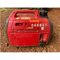 Honda EU2000 Portable Generator, 2000 Watts, Starts & Runs - See Video