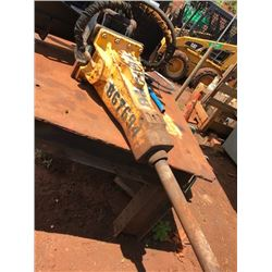 KAUAI -Hydraulic Hammer for Skid Steer- (Works But Grease Fitting Is Broken) Located on Kauai