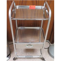 "Stainless Steel Rolling Medical Utility Cart 17"" W x 14"" Depth x 35"" H"