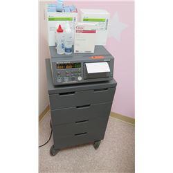 Corometrics 116 Fetal Monitor w/ Rolling Cabinet