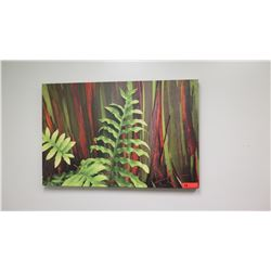 Photographic Image Giclee on Stretched Canvas: Fern and Foliage 24  x 36