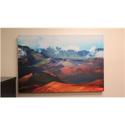 Photographic Image Giclee on Stretched Canvas: Mountains 24  x 36
