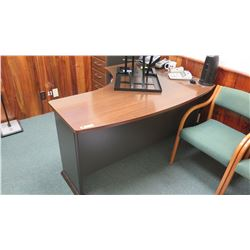 Curved Wooden Desk 5' x 43""