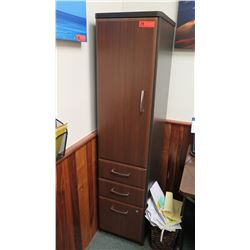 Tall Wooden Cabinet w/ Bottom Drawers 16  W x 20  Depth, 66  Height