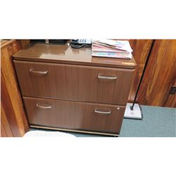 2-Drawer Wooden File Cabinet w/ Wheels 36  W x 23  Depth, 32  Height
