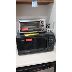 Panasonic Genius Premier 1100W Microwave (22  wide, 12  tall) & Black & Decker Toaster Oven