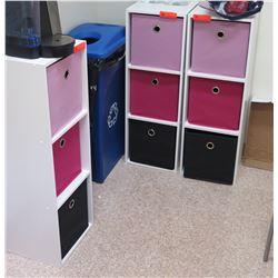 Qty 3 Storage Units (Each is 1' x 1' x 3' Tall)