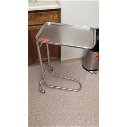 Portable Stainless Steel Instrument Table w/ Wheels