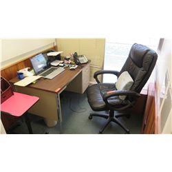 Metal Desk w/ Black Office Chair 4' x 30