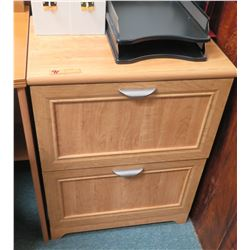 2-Drawer Wooden Cabinet