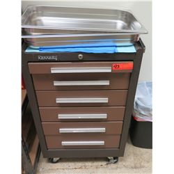 Kennedy Rolling Medical Storage Cart w/ Multiple Drawers & Trays
