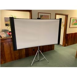 "Retracting Video Projection Screen w/ Tripod Stand (screen 73.5"" x 42"" including frame), 70"" Height"