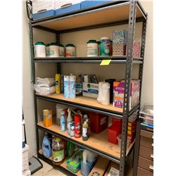 "Metal Shelving Unit 4' width, 18"" depth, 6' height (Contents of Shelving Not Included)"