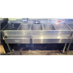 Krowne 3-Compartment Sink w/Bottle Holders
