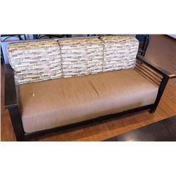 Wood Frame Sofa w/ Block Cushions
