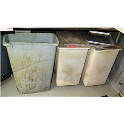 Qty 3 Trash Bins