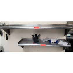 Qty 2 Metal Wall-Mount Shelves