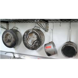 Qty 4 Cooking Pots Different Sizes