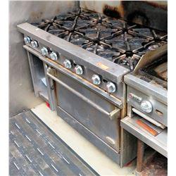Commercial 8-Burner Range & Oven