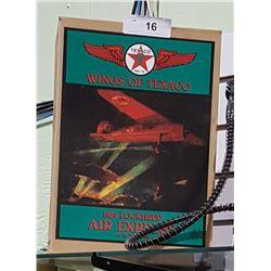 NIB WINGS OF TEXACO 1929 LOCKHEED AIR EXPRESS DIE CAST COIN BANK