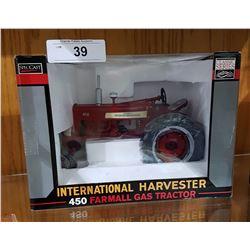 NIB INTERNATIONAL HARVESTER 450 FARMALL GAS TRACTOR DIECAST