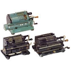 3 Sprossenrad-Rechenmaschinen