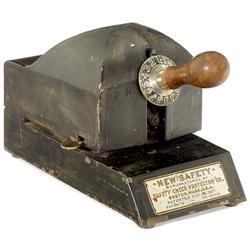"""Scheckschreiber """"New Safety"""", 1907"""