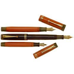 """3 Füllhalter """"Parker Duofold"""", 1935–194"""
