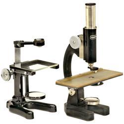 """Stativlupe """"Leitz"""" und Mikroskop"""