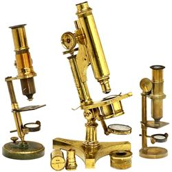3 Messing-Mikroskope