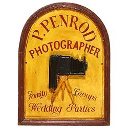 "Photographenschild ""P. Penrod"""