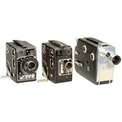 "3 Filmkameras 16 mm ""Siemens"" bzw.  ""Kodak"