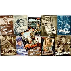 Lot von mehr als 100 Filmprogrammhefte