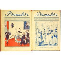 """Satirische Zeitschrift """"Brummbär"""", ab 193"""