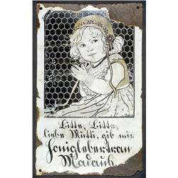 "Seltenes Emailschild ""Madaus"", um 1910"