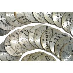 """30 Platten """"Edelweiss"""" (Ø 14,2 cm)"""