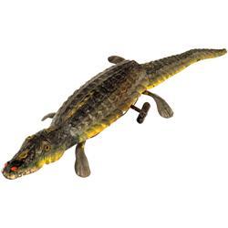 Laufendes Blech-Krokodil