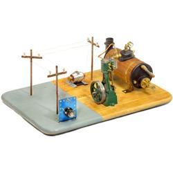 "Dampfbetriebenes ""Elektro-Diorama"" mi"