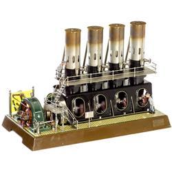 4-Zylinder-Heißluftmotor mit Generato