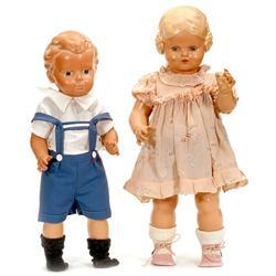 Hans und Bärbel, das beliebte Puppenpaar vo