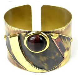Be the Talk of The Town with this Handmade Tiger Eye Cougar Cuff Bracelet