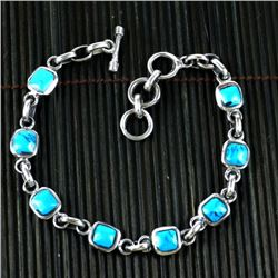 Alpaca Silver and Turquoise Bracelet