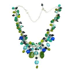 Green/ Blue Multibead Necklace