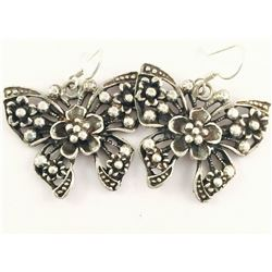 Handmade Silver Butterfly Earrings