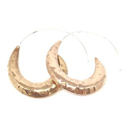 Stunning Copper Crescent Shape Earrings