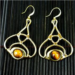 Straight from South Africa is this  Tiger Eye Bloom Earrings