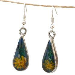 Nashua Yellow Flower Earrings