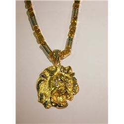 14 KT Solid Yellow Gold Necklace with Pendant