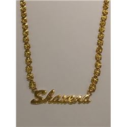 14 Kt  Solid Yellow Gold Personalized Necklace